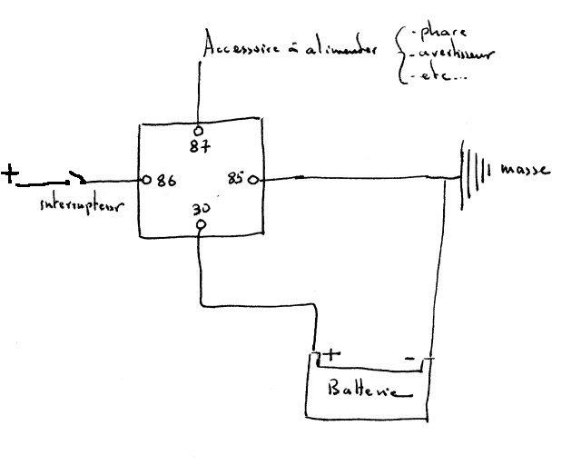 Schema electrique relais 12v